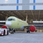Завершена постройка самолета МС-21, оснащенного российскими двигателями